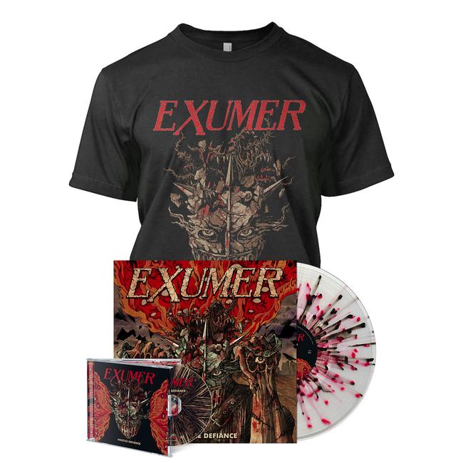 4de81ef5a4b182 Hostile Defiance marks Exumer's third time working with producer Dennis  Koehne (Sodom, Melechesh). Tracking the album in studios in Dortmund and  Frankfurt, ...
